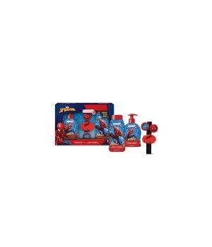 Spider-Man cofanetto sapone liquido 250 ML + docciashampoo 250 ML + braccialetto lanciadischi