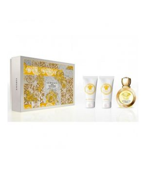 Eros Pour Femme cofanetto - Eau de toilette 50 ml + Luxury Body Lotion 50 ml + Luxury Bath & Shower Gel 50 ml