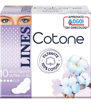 Lines Cotone Ultra con ali 10 pezzi