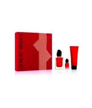Confezione Si Passione Armani 50 ml Eau de Parfum + 7 ml Eau de Parfum + 75 ml Body Lotion