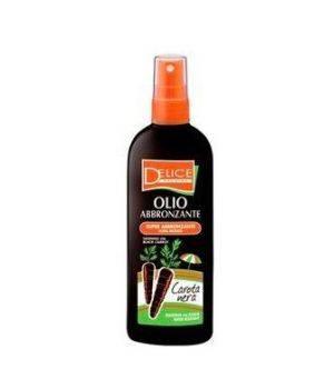 Delice Solaire - Olio abbronzante spray carota nera 150 ml