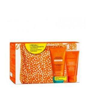 Crema Solare Protezione Attiva SPF30 Pelli Ipersensibili + Doccia Shampoo Doposole + Pochette