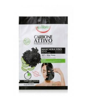Equilibra Carbone Attivo Maschera Viso Tessuto