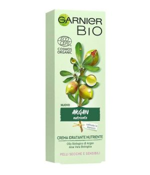 Garnier Bio Crema VISO Idratante NUTRIENTE Argan Pelli Secche e Sensibili 50 ml