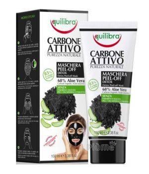 Equilibra Carbone Attivo Maschera Viso Peel-Off Detox 100 Ml