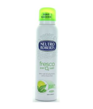 Deodorante Spray fresco zero% sali Tè Verde e Lime 150 ml
