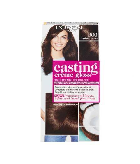 Tinta  Per Capelli Casting Creme Gloss Senza Ammoniaca N300 Castano Scuro