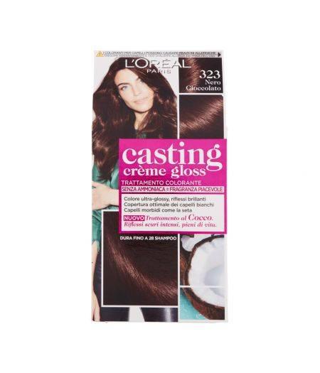 Tinta  Per Capelli Casting Creme Gloss Senza Ammoniaca N323 Nero Cioccolato