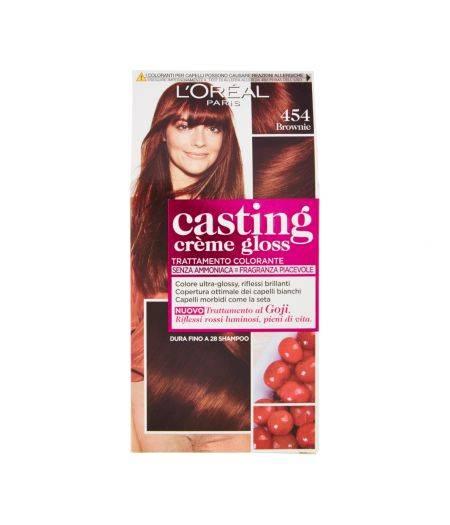 Tinta  Per Capelli Casting Creme Gloss Senza Ammoniaca N454 Brownie