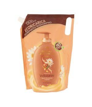 Benessere Vellutante Saponecrema Olio di Macadamia e Quinoa Ecoricarica 1500 ml