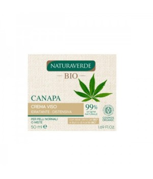 Natura Verde Crema Viso Idratante Canapa 50 ml