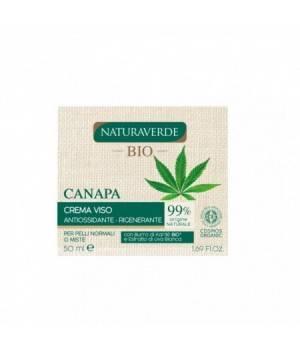 Natura Verde Crema Viso Rigenerante Canapa 50 ml