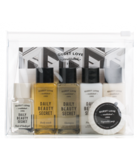 TRAVEL KIT MINI GUEST LOVE 6 PZ.