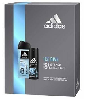 Confezione Regalo Uomo Ice Dive Deodorante Spray 150 Ml E Gel Doccia Bagnoschiuma 3In1 250 Ml