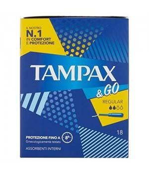 Tampax & Go Regular Tamponi 18 Pezzi