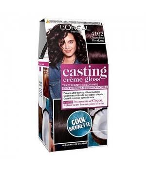 Tinta Capelli Casting Creme Gloss Senza Ammoniaca Per Una Fragranza Piacevole 4102 Cool Brunette Cioccolato Fondente 1P Ezzo