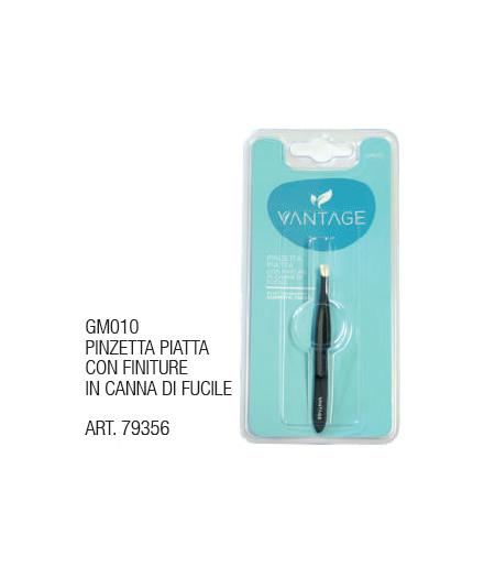 Pinzetta Piatta con Finuture in Canna di Fucile