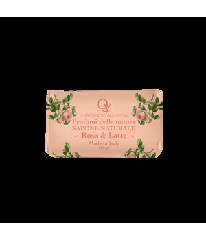 Saponetta 150gr Rosa e Latte