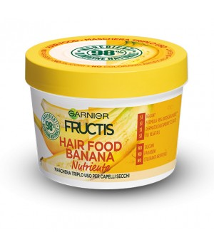 Garnier Fructis Hair Food Banana - Maschera nutriente 3in1 per capelli secchi 390 ml