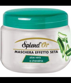 Maschera Capelli Effetto Seta Aloe Vera E Cheratina 500 Ml