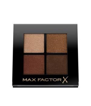 Max Factor Colour X-Pert Soft Touch Palette, 4 Ombretti dal Colore Intenso, Altamente Sfumabili, 004 Veiled Bronze