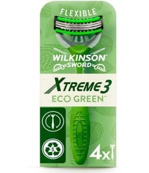 Xtreme 3 Eco Green X 4 lamette - Rasoio Usa&Getta Uomo