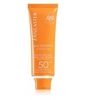 Sun Sensitive Oil-Free Milky Fluid lozione abbronzante per il viso SPF 50