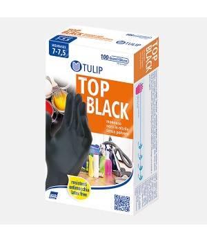 Guanti monouso nitrile colore nero - misura L 100 paia
