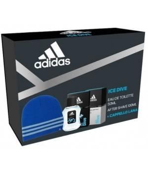 Adidas Confezione Ice Dive Edt 50 + After Shave 100 Ml + Berretto