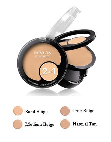 Image of ColorStay 2-in-1 Compact Makeup & Concealer - Fondotinta + Correttore Natural Tan