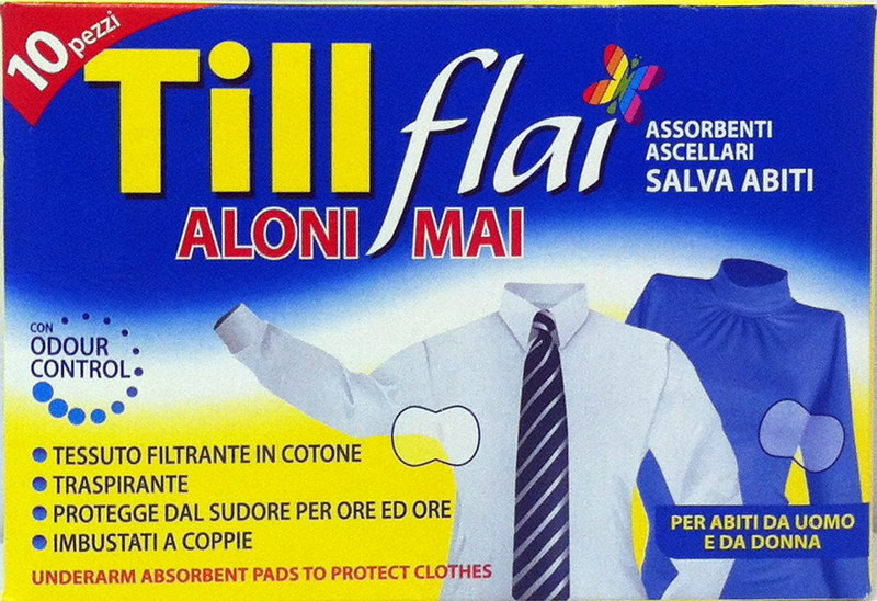 Image of Assorbenti Ascellari Anti-Aloni Confezione 10 Pezzi