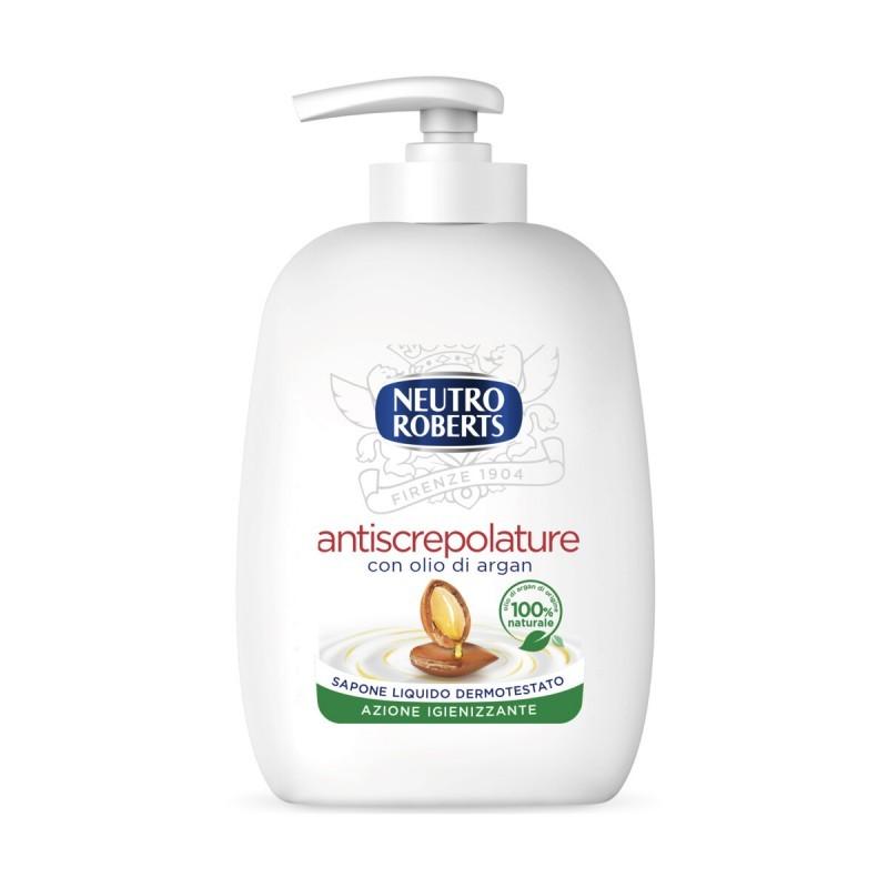 Sapone Liquido Antiscrepolature Con Olio Di Argan Azione Igienizzante Dispenser 200 Ml
